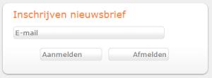 Inschrijfbutton voor je nieuwsbrief op de startpagina van je bibliotheekwebsite