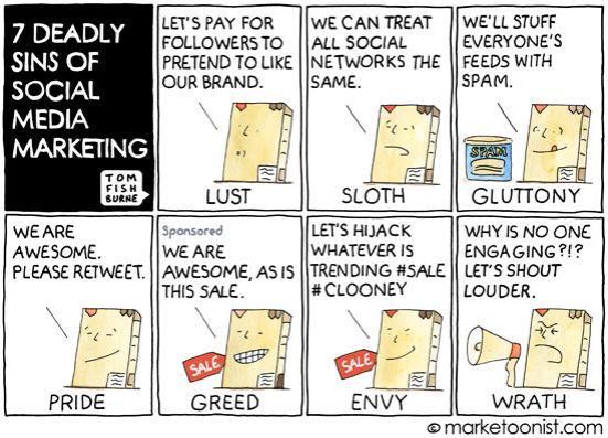 De zeven social media zonden