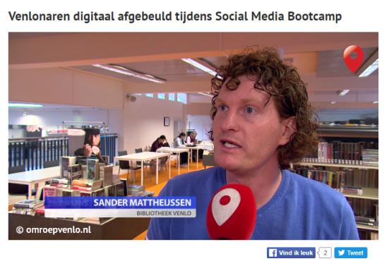 Venlonaren digitaal afgebeuld tijdens Social Media Bootcamp