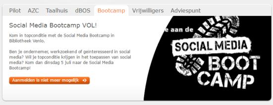 Social Media Bootcamp Werkzoekenden Ondernemers Webbieb