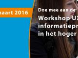 Workshop UX voor informatieprofessionals in het hogeronderwijs
