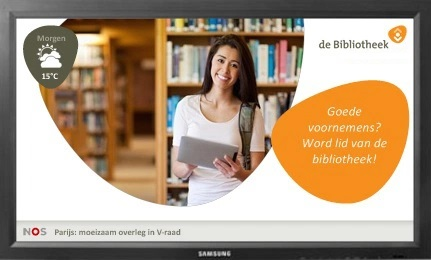 Narrowcasting in de bibliotheek